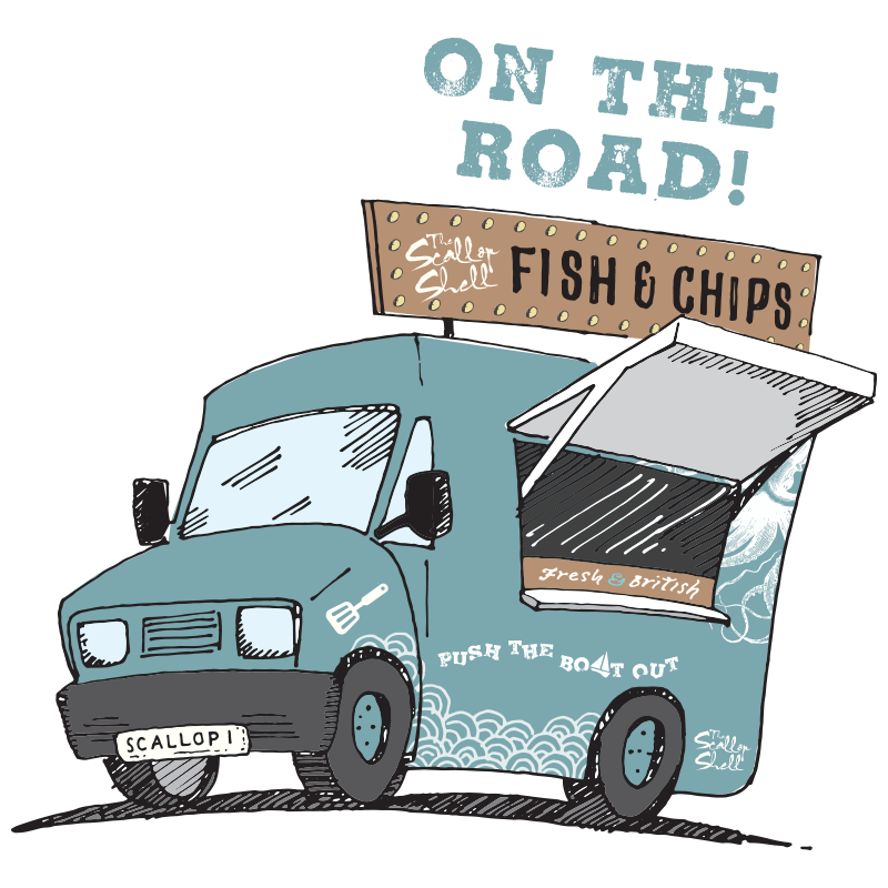 The Scallop Shell on the road - a new specially-kitted out food truck designed to cater for weddings, festivals and corporate events.